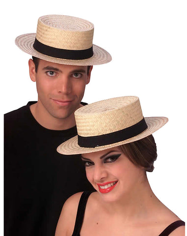 Straw Sailor Hat by Rubie's 49212 at Buffalo Breath Costumes