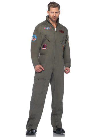Top Gun Flight Suit costume by Leg Avenue TG83702 at Buffalo Breath Costumes