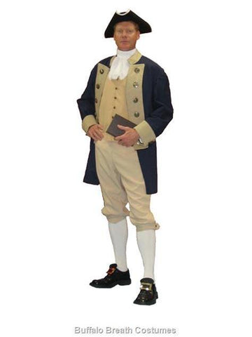 1776 American Revolutionary Founding Father John Adams deluxe costume rental or purchase at Buffalo Breath Costumes in San Diego