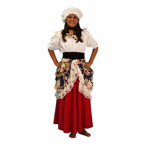 Colonial Girl costume rental for kids from Buffalo Breath Costumes