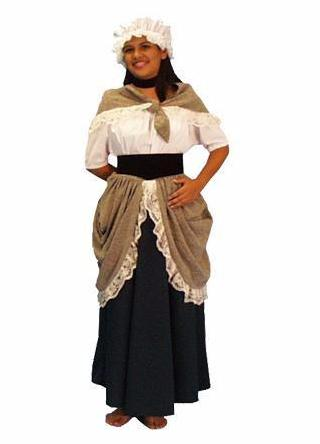 Colonial Girl child size costume rental at Buffalo Breath Costumes