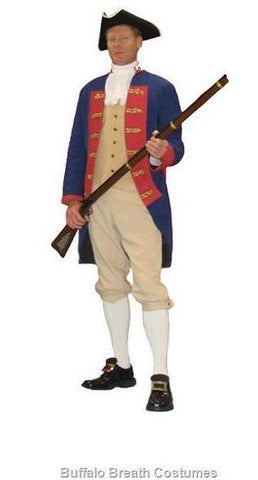 Colonial Military Officer costume at Buffalo Breath Costumes in San Diego