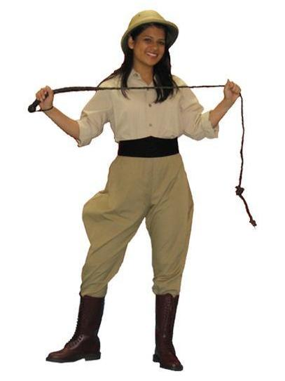 Archaeologist / Lion Tamer female costume to rent from Buffalo Breath Costumes