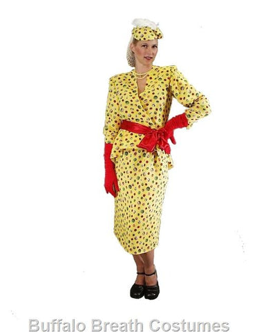 Forties Yellow Peplum costume rental or purchase at Buffalo Breath Costumes in San Diego