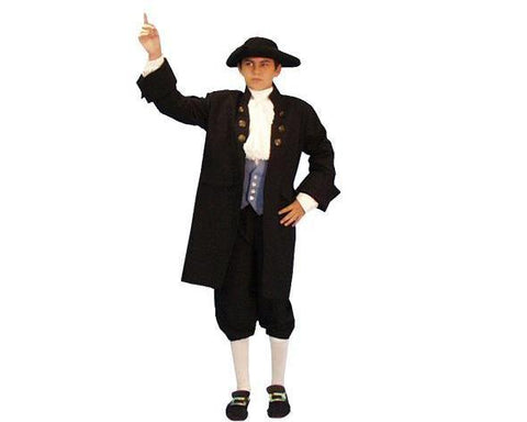 Founding Father 1776 patriotic child costume rental at Buffalo Breath Costumes in San Diego