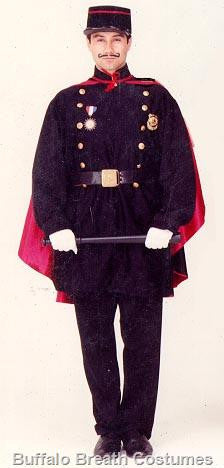 French Gendarme costume rental at Buffalo Breath Costumes in San Diego
