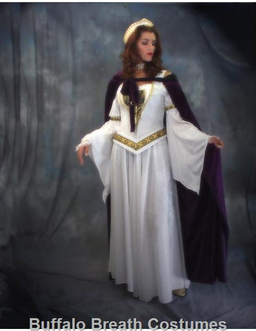 Deluxe Queen Guinevere medieval/renaissance costume rental or purchase at Buffalo Breath Costumes in San Diego