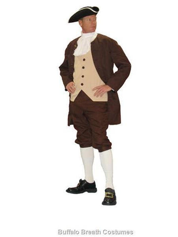 Deluxe Colonial Era Man /  Isaac Newton costume rental or purchase at Buffalo Breath Costumes in San Diego