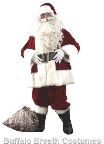 Deluxe Santa Claus Christmas costume rental at Buffalo Breath Costumes