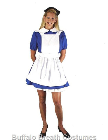 Alice in Wonderland mini dress costume to rent from Buffalo Breath Costumes