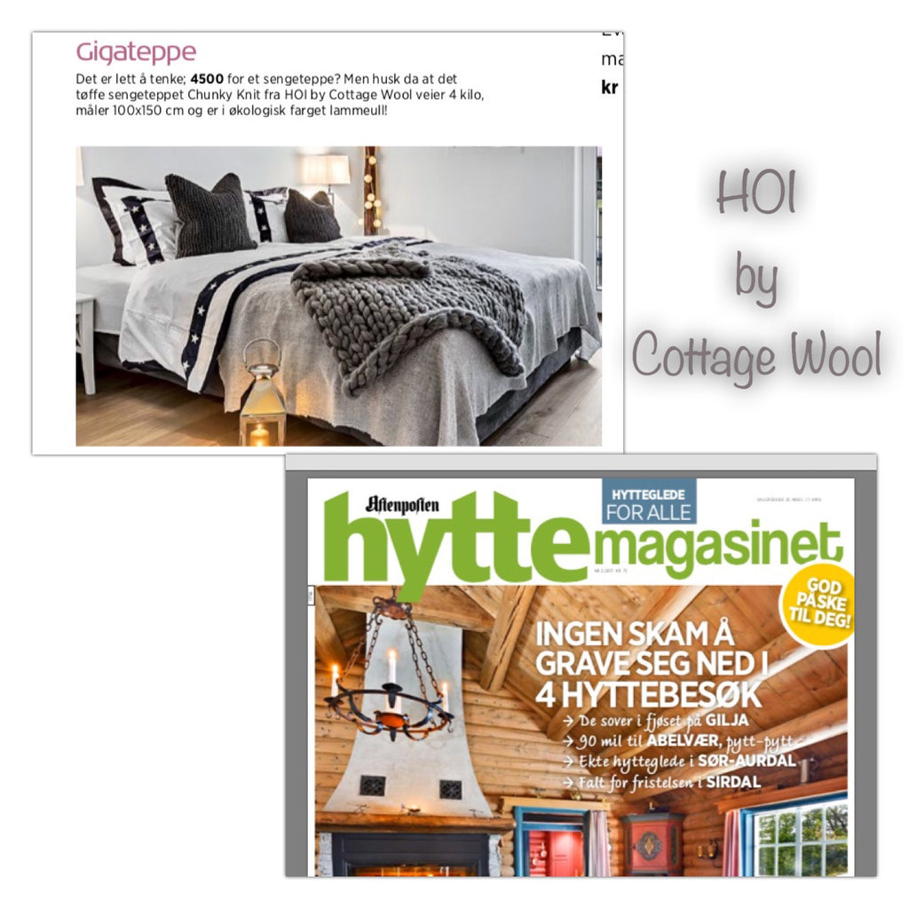Hyttemagasinet skriver om HOI by Cottage Wool i sitt Påskenummer for 2017