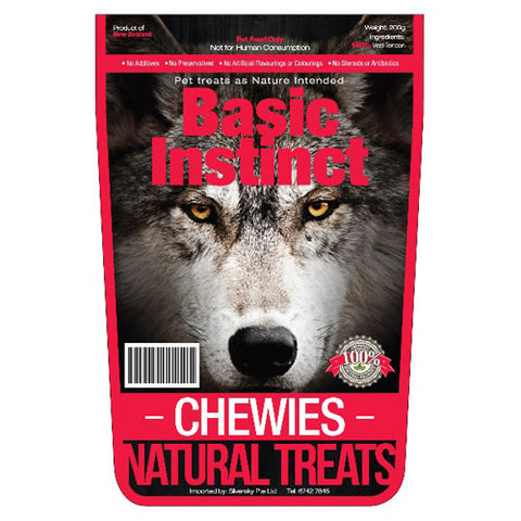 Basic Instinct Veal Chewies - Push Pets Singapore