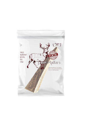 Absolute Bites Half Deer Antlers Dental Chew
