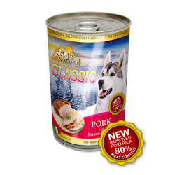 Alps Natural Classic Pork Canned Dog Food - Push Pets Singapore