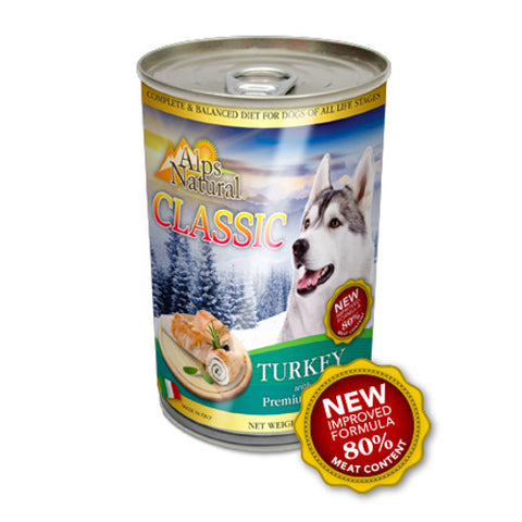 Alps Natural Classic Turkey Canned Dog Food - Push Pets Singapore