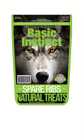 Basic Instinct Veal Spare Ribs - Push Pets Singapore