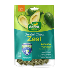 Happi Doggy Petite Avocado Dental Chew Zest