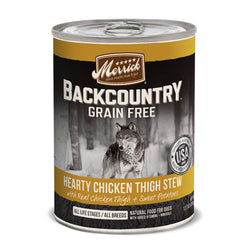 Merrick Backcountry Grain Free Hearty Chicken Thigh Stew Canned Dog Food - Push Pets Singapore