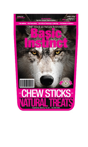 Basic Instinct Veal Tendon Chew Sticks - Push Pets Singapore