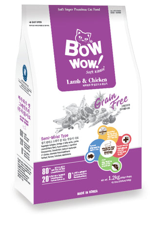 Bow Wow Grain Free - Cat Lamb & Chicken 1.2 kg