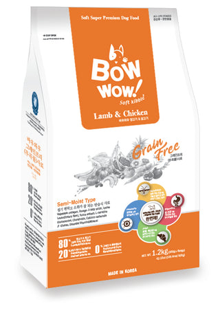 Bow Wow Grain Free - Lamb & Chicken 1.2 kg