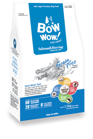 Bow Wow Grain Free - Salmon & Herring 1.2 kg