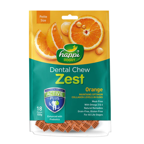 Happi Doggy Petite Orange Dental Chew Zest
