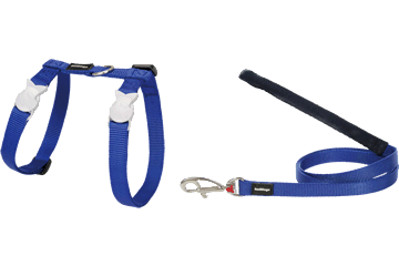 Red Dingo Cat Combo Classic Harness & Lead Dark Blue