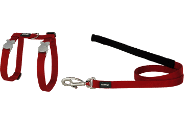 Red Dingo Cat Combo Classic Harness & Lead Red