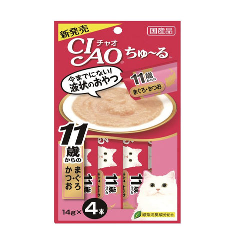 CIAO Chu-ru Tuna with Collagen Cat Treats 14g x 4