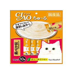 CIAO Chu-ru Chicken Fillet with Scallop Flavor Cat Treats 14g x 10