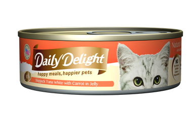 Daily Delight Jelly - Skipjack Tuna White with Carrot Canned Cat Food, case of 24 - Push Pets Singapore