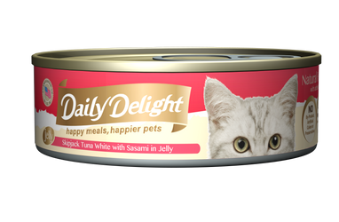 Daily Delight Jelly - Skipjack Tuna White with Sasami Canned Cat Food, case of 24 - Push Pets Singapore