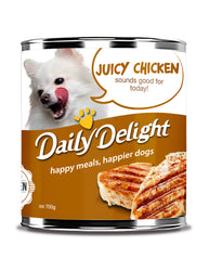Daily Delight Juicy Chicken Canned Dog Food, 180g, case of 24 - Push Pets Singapore