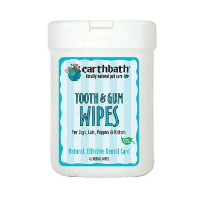 Earthbath Tooth & Gum Wipes - Push Pets Singapore