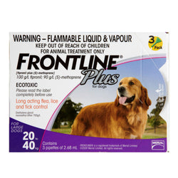 Frontline Plus: Flea and Tick Spot On for Large Dogs (20 - 40kg) - Push Pets Singapore