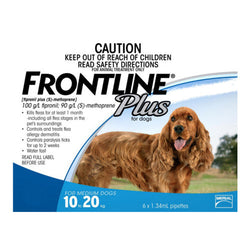 Frontline Plus: Flea and Tick Spot On for Medium Dogs (10 - 20kg) - Push Pets Singapore