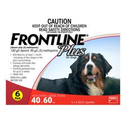 Frontline Plus: Flea and Tick Spot On for Extra-Large Dogs (40 - 60kg) - Push Pets Singapore