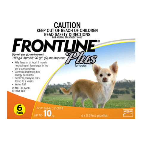 Frontline Plus: Flea and Tick Spot On for Small Dogs (<10kg) - Push Pets Singapore