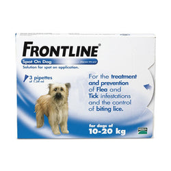 Frontline: Flea & Tick Spot On for Medium Dogs (10kg - 20kg) - Push Pets Singapore