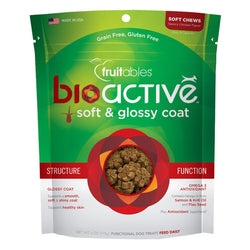 Fruitables BioActive Soft & Glossy Coat Dog Treats - Push Pets Singapore