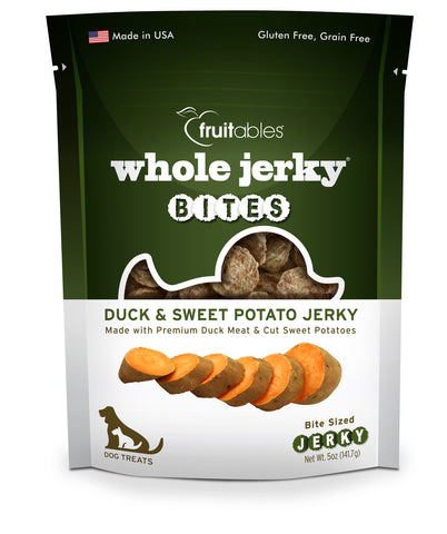 Fruitables Whole Jerky Bites Duck & Sweet Potato Dog Treats