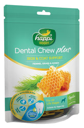 Happi Doggy Dental Chew Plus Skin & Coat Support