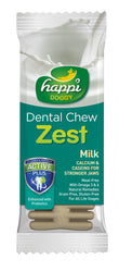 Happi Doggy Dental Chew Zest (Milk)