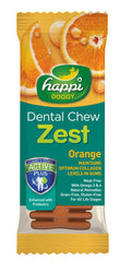 Happi Doggy Dental Chew Zest (Orange)