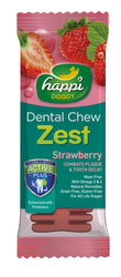 Happi Doggy Dental Chew Zest (Strawberry)