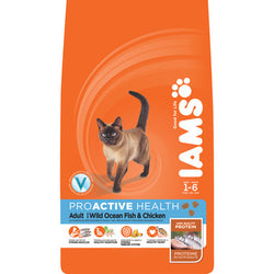 Iams ProActive Health Adult Original Ocean Fish & Rice Dry Cat Food, 3kg - Push Pets Singapore