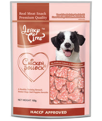 Jerky Time Heart Chicken Jerky With Pollock 100g