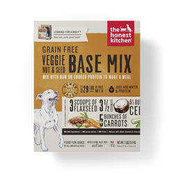15% OFF + FREE GIFT Honest Kitchen Grain Free Base Mix Vegetables Nuts & Seeds Dehydrated Dog Food - Kindly