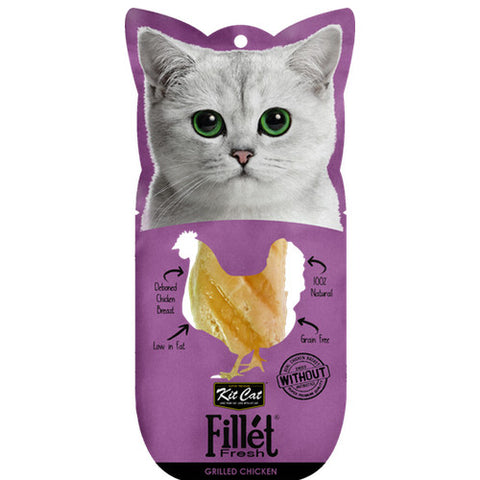 Kit Cat Fillet Fresh Grilled Chicken Treats - Push Pets Singapore